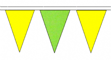 Green and Yellow Traditional 20m 54 Flag Polyester Triangle Flag Bunting